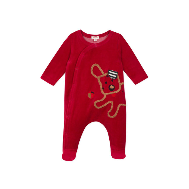 CATIMINI Baby boys' plain terry velvet pyjamas