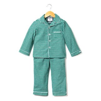 Petite Plume Green Gingham Classic Flannel Pajamas
