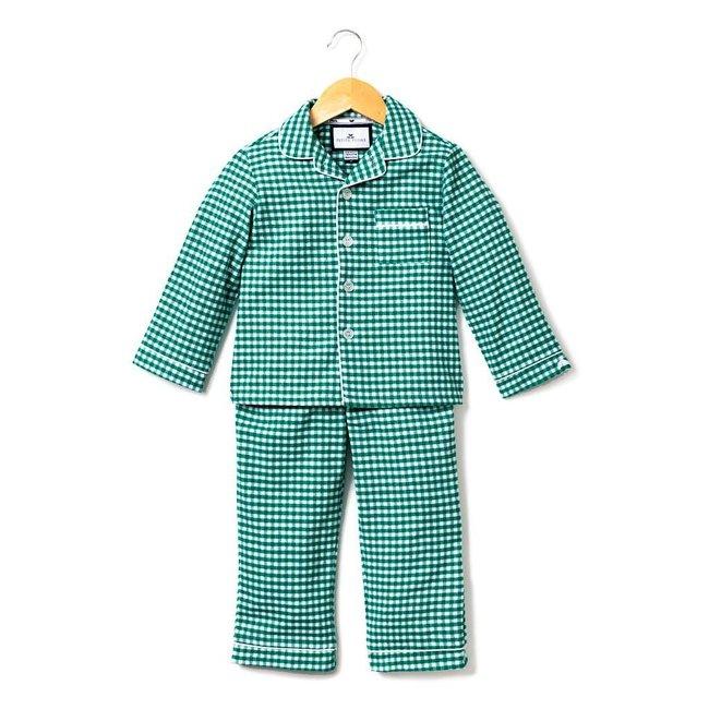 Petite Plume Green Gingham Classic Flannel Pajamas