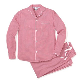 Petite Plume Women's Red Mini Gingham Pajama Set