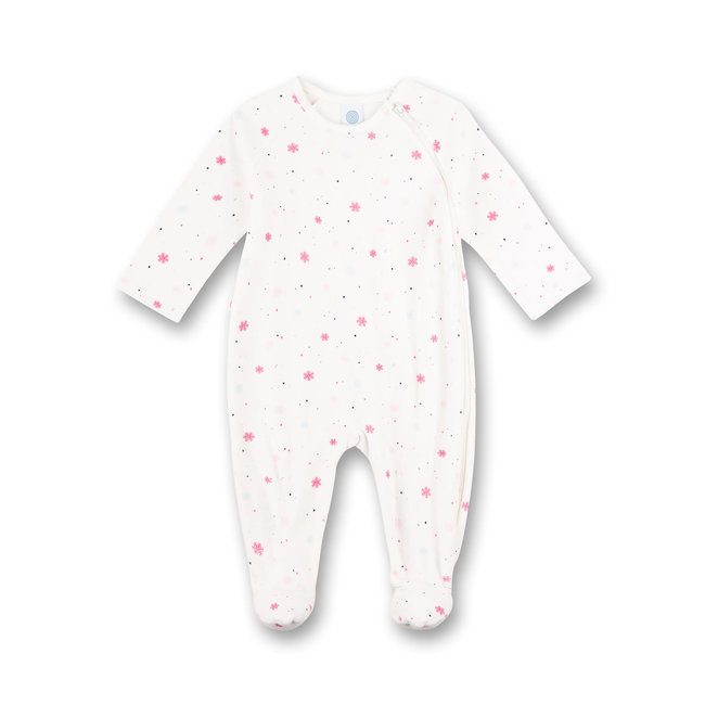 SANETTA Girl's jumpsuit Off-White Happy Penguin