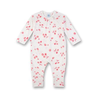 SANETTA Girl's jumpsuit with folding feet off-white cherry