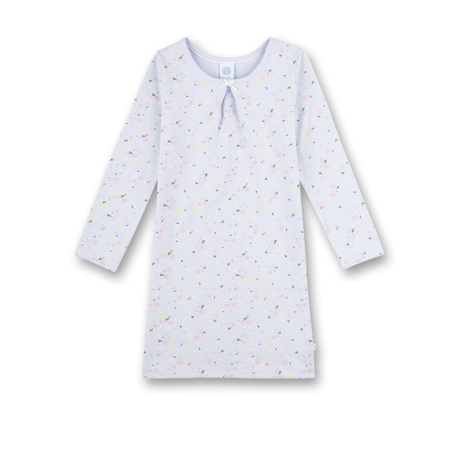 SANETTA Girl's nightgown blue Milles Fleurs