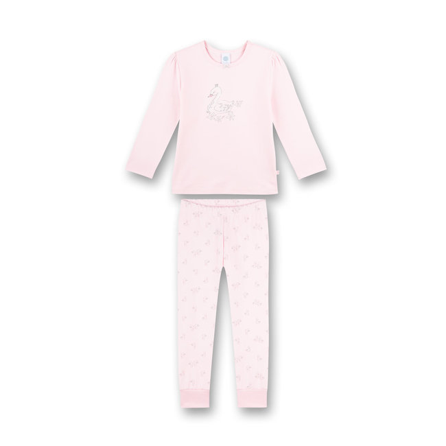 SANETTA Girl's long pajamas pink Swan Lake