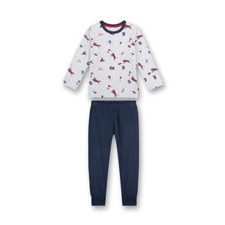 SANETTA Boy's pajamas long gray Let's go to play