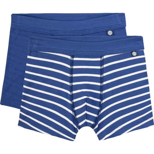 SANETTA Boy's shorts (double pack) blue