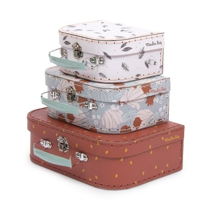 MOULIN ROTY Moulin Roty Apres La Pluie Suitcases Set