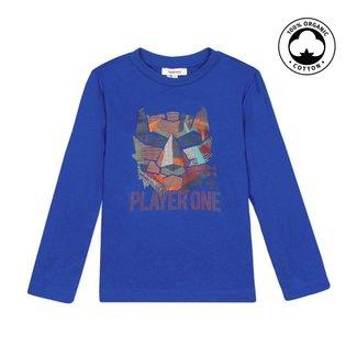 CATIMINI Boy's royal blue T-shirt with tiger