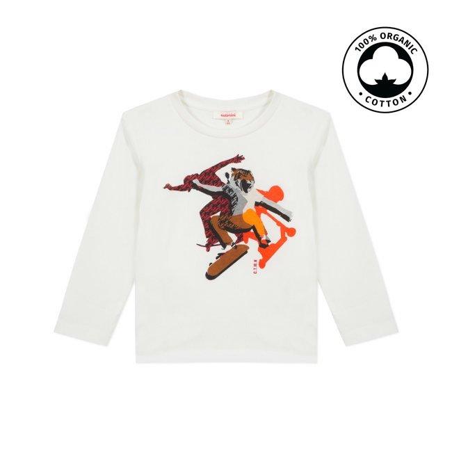 CATIMINI Boy's jersey T-shirt with skateboard motif