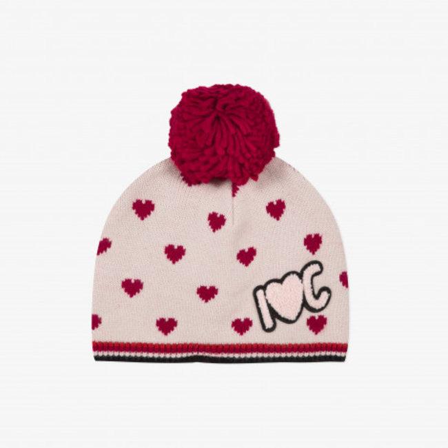 CATIMINI Girls' knit hat with pompom