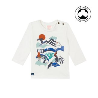 CATIMINI Baby boy's jersey T-shirt with snowy landscape motif