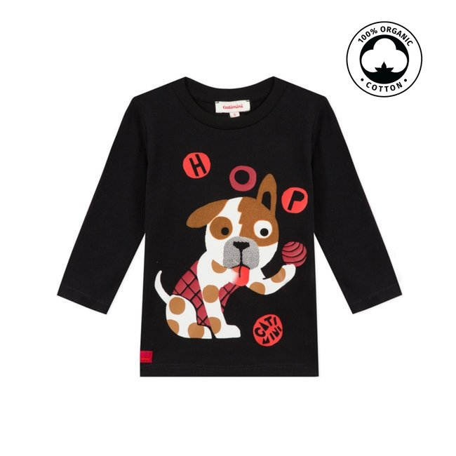 CATIMINI Baby boy's jersey T-shirt with dog motif