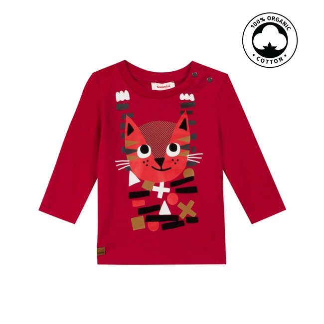 CATIMINI Baby boy's jersey T-shirt with cat motif