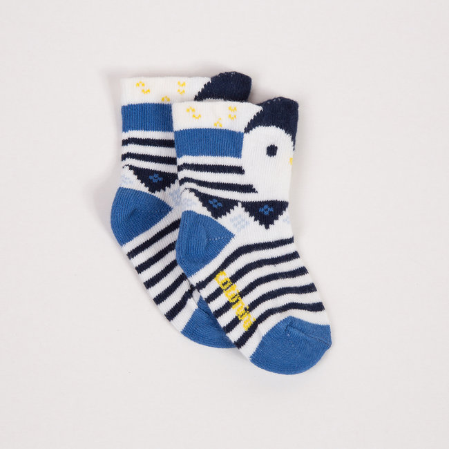 CATIMINI JACQUARD STRIPED PENGUIN SOCKS