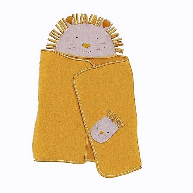 MOULIN ROTY Sous Mon Baobab - Hooded Towel and Mitt Set