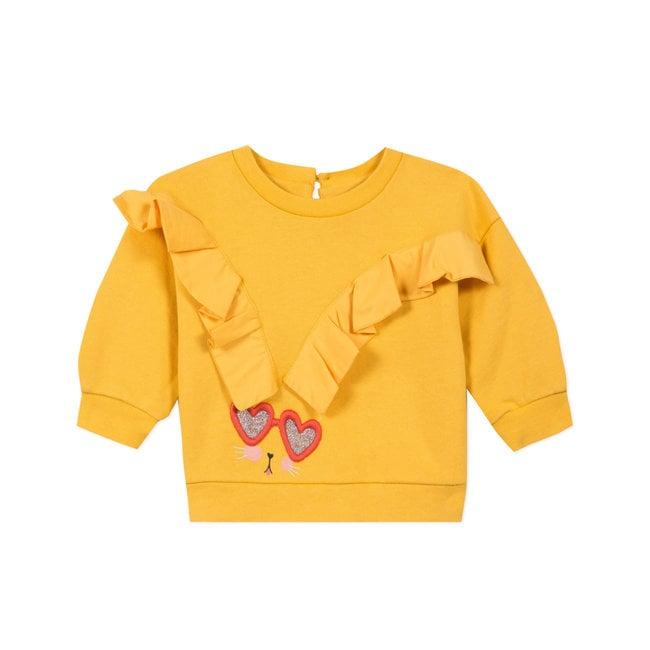CATIMINI Baby girls' fleece sweatshirt with frills
