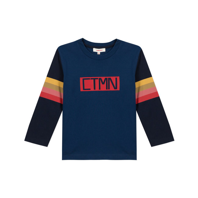 CATIMINI Boy's jersey T-shirt with striped sleeves
