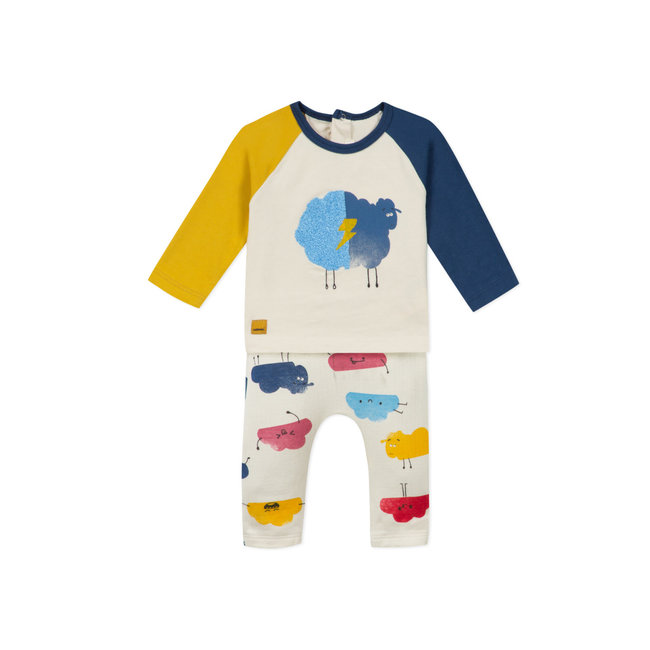 CATIMINI Baby boys printed jersey T-shirt and knit trousers
