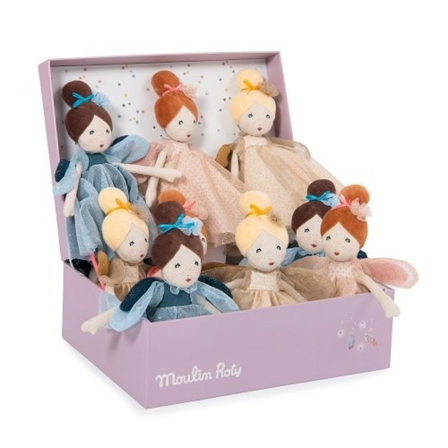 MOULIN ROTY Il Etait une Fois - little fairy dolls (Blue, Gold or Pink)