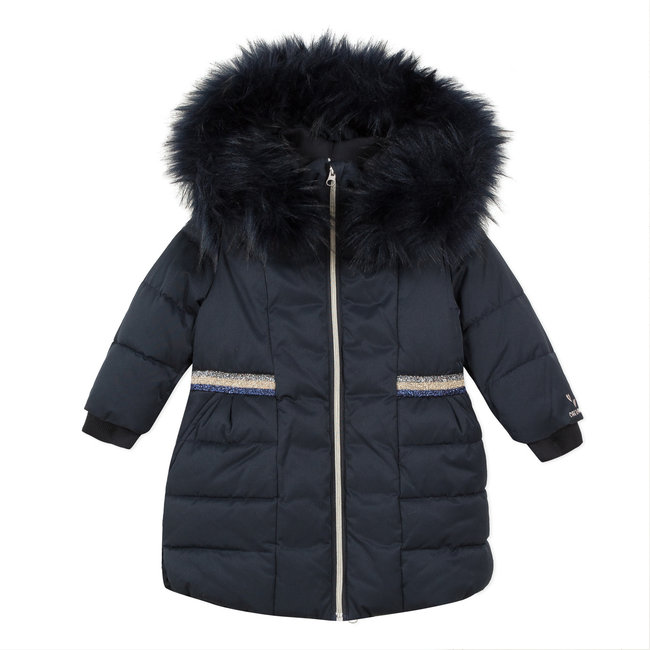 CATIMINI Girl's belted coat with lined hood