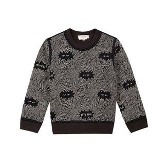 CATIMINI Boys' foamback reversible fleece sweatshirt