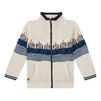 CATIMINI Boy's jacquard knitted zipped cardigan