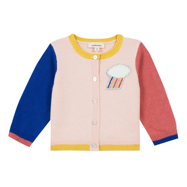 CATIMINI Baby girl's knitted multicoloured cardigan