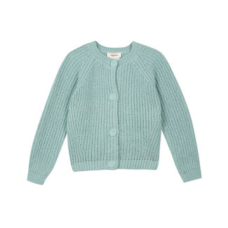 CATIMINI Girls' fluffy sparkling lagoon cardigan