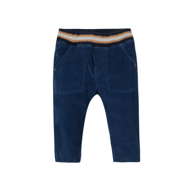 CATIMINI Baby boys' navy blue corduroy pants