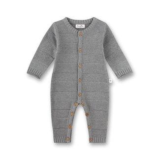 SANETTA Baby unisex knitted overall gray melange