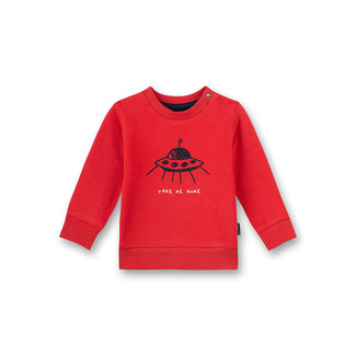 SANETTA Baby boys sweatshirt red Inter Galactic