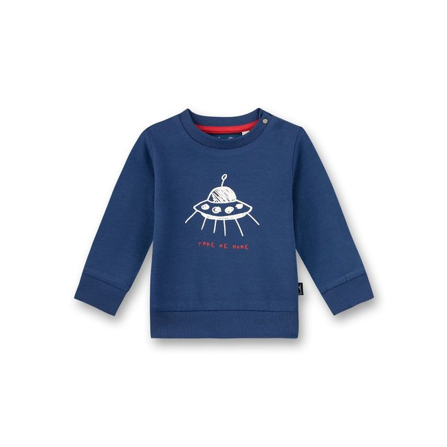 SANETTA Baby boys sweatshirt blue Inter Galactic