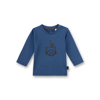 SANETTA Baby boys shirt long-sleeved blue Indian Little Panda