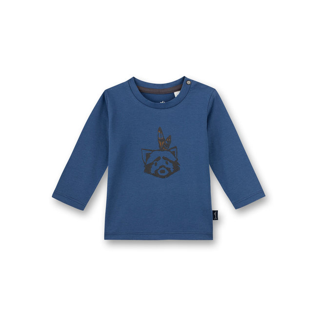 SANETTA Baby boys shirt long-sleeved blue Indian Little Panda