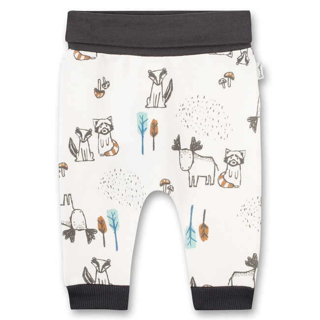 SANETTA Baby boys sweatpants Off-White Indian Little Panda