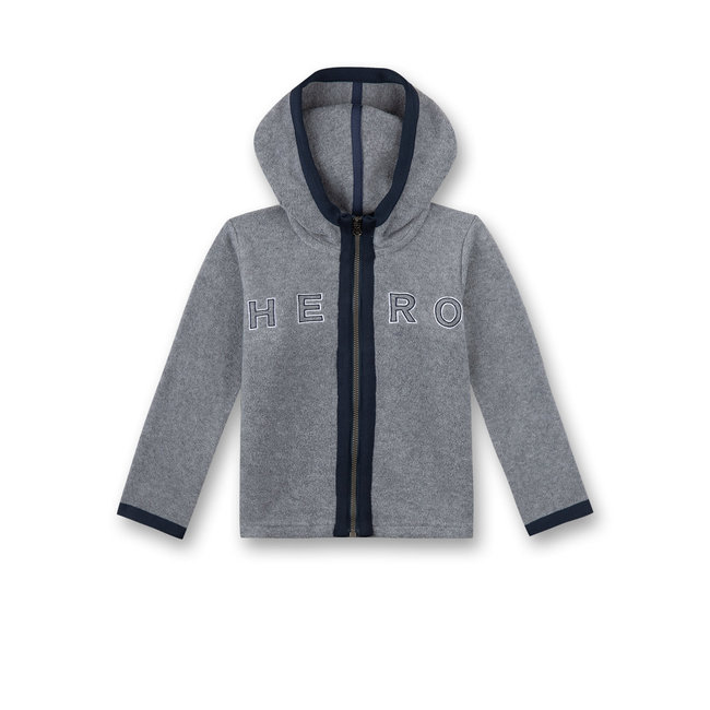 SANETTA Boys fleece jacket gray melange Gamer