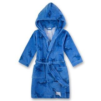 SANETTA Boys Blue Dino bathrobe