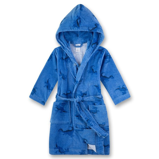 SANETTA Boys Blue Dino bathrobe