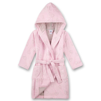 SANETTA Girls pink bathrobe