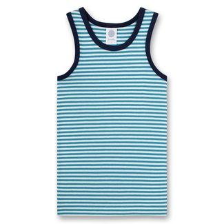 SANETTA Boys' undershirt blue ringed Rocketman