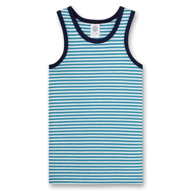 SANETTA Boys' undershirt blue ringed Rocketman