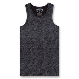 SANETTA Boys shirt w/o sleeeves allover super black