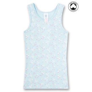 SANETTA Girls' undershirt light blue Flowerfield