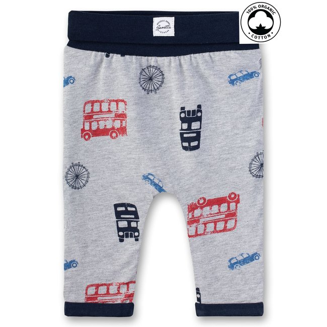 SANETTA Baby boys sweatpants lined grey mel