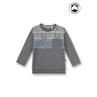 SANETTA Boys long-sleeved shirt dark gray