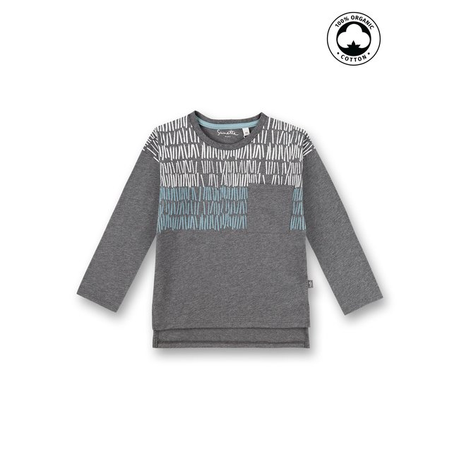 SANETTA Boys long-sleeved shirt dark gray
