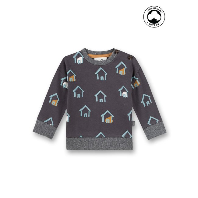 SANETTA Baby boys sweatshirt dark gray