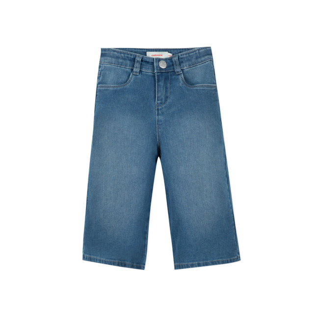 CATIMINI Girls' knit denim jeans indigo