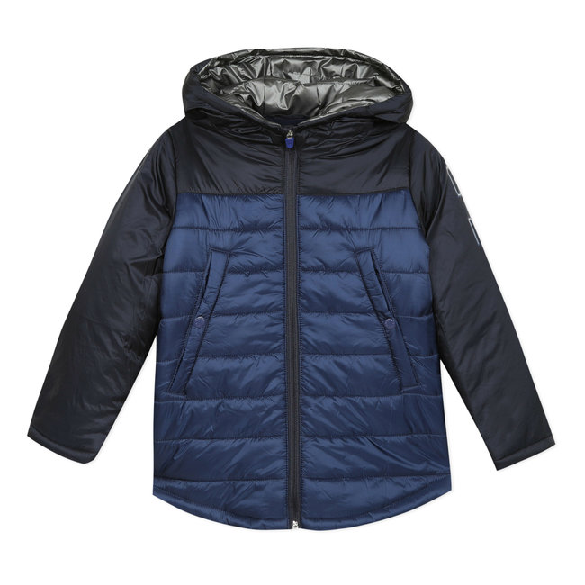 CATIMINI Boy's blue coated down puffa jacket