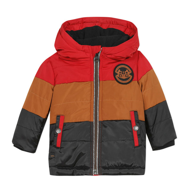 CATIMINI Baby boys' tricolour quilted down jacket with hood